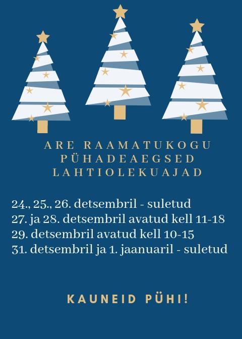Navy Blue Santa Illustration Christmas Flyer